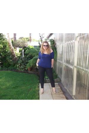 Stradivarius sweater - Vogue sunglasses - Zara pants