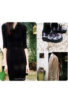 black Bershka dress - bubble gum Primark cardigan