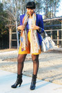 Black-boutique-9-boots-deep-purple-thrifted-vintage-blazer