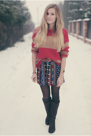 aztec print Atmosphere dress - striped Cubus sweater