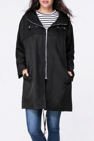 Fashionmia coat - black coat hm coat - Fashionmia coat - long coat asos coat