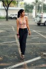 Shirt-unarosa-pants-charles-and-keith-heels-accessorize-bracelet