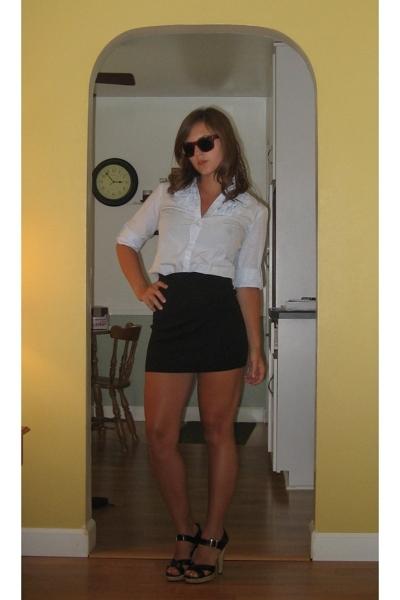 Gap shirt - American Apparel sunglasses - American Apparel skirt - Wet Seal shoe