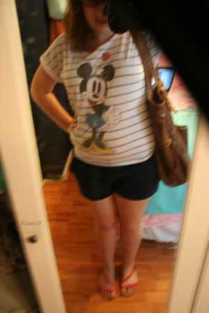 white minnie mouse Disney t-shirt - bronze huge Roxy bag