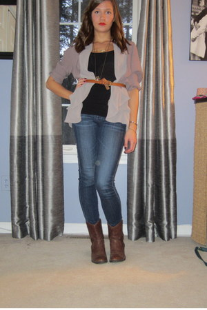 draped Urban Outfitters blazer - leather Jessica Simpson boots