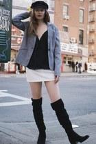 black calvin klein boots - black fisherman cap zaful hat