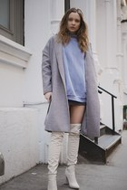 wool Primark coat - Missguided boots