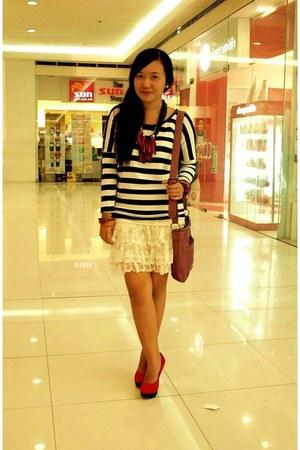 ivory lace Zara dress