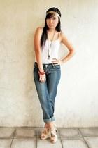 nude Parisian - white - gold - jeans