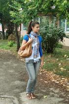 banana republic vest - Fox top - Accessorize purse - Terranova jeans - B&B shoes