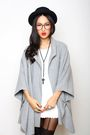 Silver-gary-pepper-vintage-cape-coat-white-gary-pepper-vintage-top-black-top