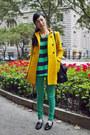 Black-see-by-chloe-bag-gold-zara-coat-turquoise-blue-random-jeans