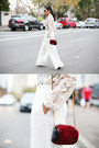 Maroon-gary-pepper-vintage-bag-cream-maurie-and-eve-pants