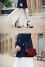 Neutral-juliette-hogan-dress-navy-jolie-deen-coat