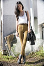 White-mink-pink-top-beige-american-apparel-pants-black-jeffrey-campbell-shoe