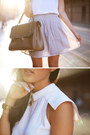 Navy-jolie-deen-coat-camel-gary-pepper-vintage-bag-white-dion-lee-top