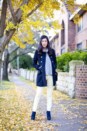 navy jolie and deen coat - navy The Mode Collective boots