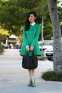 Turquoise-blue-zara-jacket-white-yeojin-bae-shirt-black-alexander-wang-bag