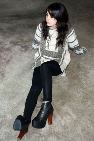 black American Apparel leggings - black Jeffrey Campbell shoes