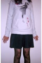 Forever21 sweater - Chinatown dress - Forever21 tights - Converse shoes