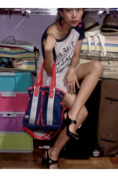 lepsim dress - next shoes - Lacoste bag - Forever 21 accessories
