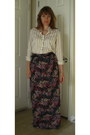 White-ralph-lauren-top-black-maxi-target-skirt