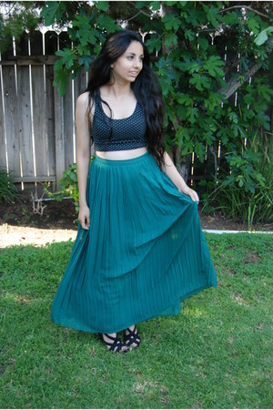 turquoise blue Sparkle&Fade skirt - pins and needles top
