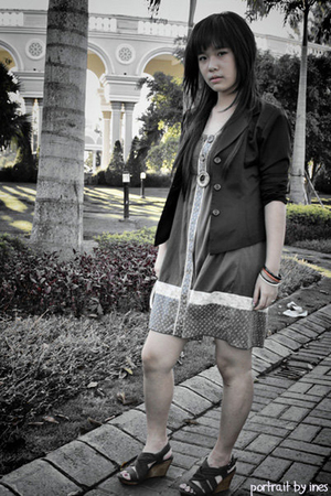 H&M blazer - next dress - Zara shoes