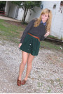 Charcoal-gray-thrifted-sweater-brown-steve-madden-shoes