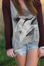 Black-vintage-hat-gray-revolve-shirt-blue-abercrombie-shorts-black-forever