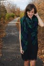 Black-jeffrey-campbell-boots-black-zara-dress-forest-green-plaid-zara-scarf