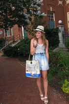 H&M shorts - Forever21 hat - coach purse - Forever21 top - BCBG heels