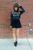 Aldo boots - wildfox couture sweater - American Apparel skirt