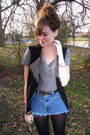 Heather-gray-forever21-shirt-black-wal-mart-tights-navy-thrifted-diy-shorts