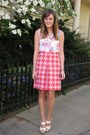 Pink-hounds-tooth-j-crew-skirt-cream-monogram-chinese-laundry-heels