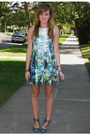 Ivory-zara-dress-turquoise-blue-seychelles-heels