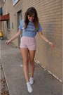 White-keds-shoes-sky-blue-wildfox-couture-shirt