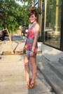 Blue-zara-dress-hot-pink-american-apparel-bra-nude-jessica-simpson-heels