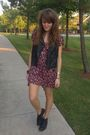 Black-target-vest-pink-forever21-dress-black-thrifted-boots-silver-forever