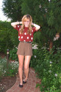 Dark-brown-houndstooth-forever21-shorts