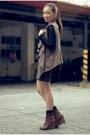 Tawny-boots-black-leopard-print-skirt-black-vintage-lace-blouse-ruckus-acc