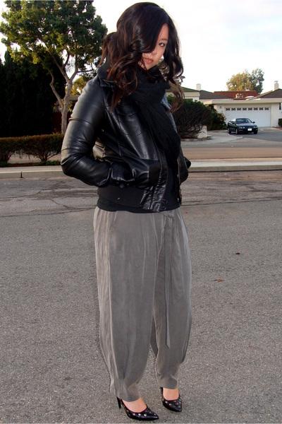 black James Perse shirt - black Forever21 jacket - gray love21 pants - black ban