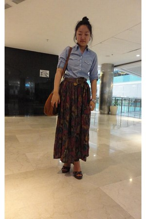 Zara shirt - Charles & Keith bag - swiz watch - Zara belt - vintage skirt - Carl