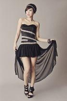 black Glitterati dress - black GLAM by Glitterati shoes - silver accessories - b