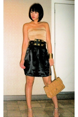 Mango top - Centura belt - Glitterati skirt - Chanel purse - Aldo shoes