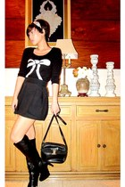 knee-high boots Aldo boots - knitted Promod sweater - shoulder bag Salvatore Fer