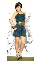 Forever21 dress - Randy Ortiz accessories - BCBG belt - H&M accessories - casio