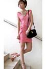 Salmon-suede-topshop-shoes-bubble-gum-jersey-tyler-dress-black-shoulder-bag-