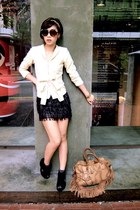 Chloe sunglasses - Prada bag - Glitterati blazer - another skirt - Soul Phenomen