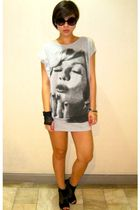 gray Forever21 dress - black random from Bangkok sunglasses - black random on-li